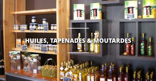 Les huiles, tapenades et moutardes à base de noix