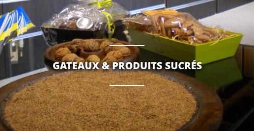 Les gâteaux et produits sucrés à base de noix